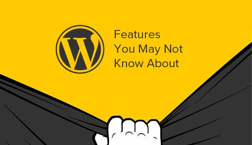 Hidden WordPress Features
