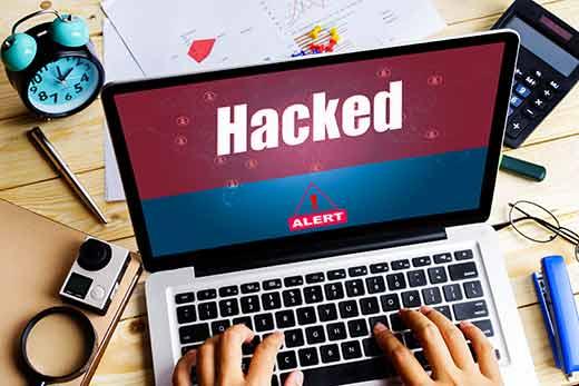 website homepage defaced after hacking