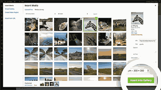 Creating image galleries in WordPress