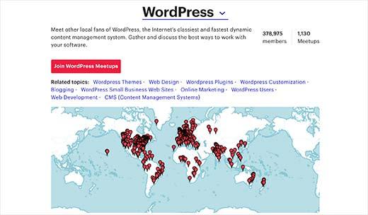 WordPress meetups around the globe