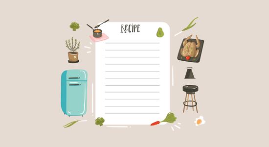 Make a food and recipe blog