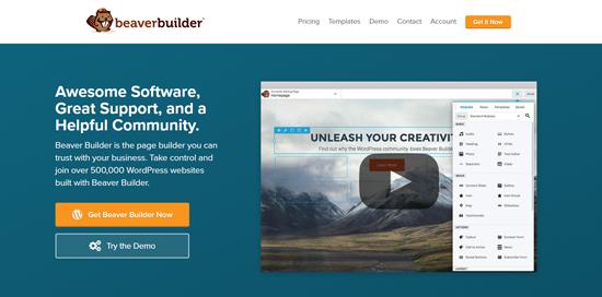 Beaver Builder best WordPress page builder plugin