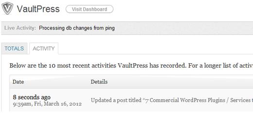 پشتیبان گیری VaultPress