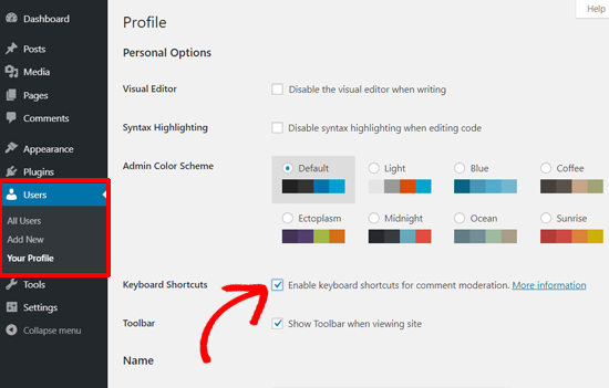 Enable Keyboard Shortcuts for Comments Moderation in WordPress