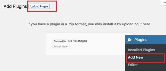 upload plugin