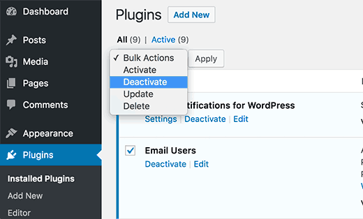 Rename plugins folder using FTP