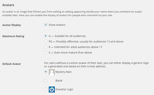 Setting up avatars on your WordPress site