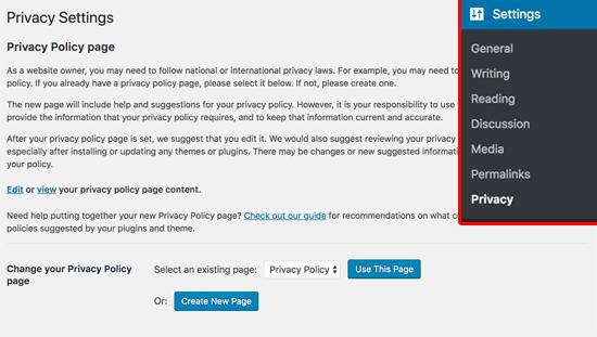 WordPress Privacy Policy Generator for GDPR