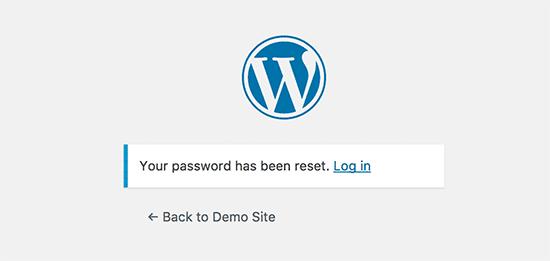 Your password has been reset