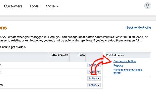PayPal Create a Donate Button