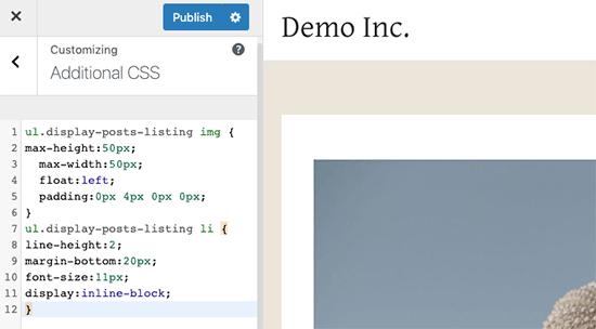 Custom CSS box