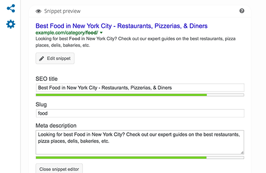 Editing meta description for category archive in WordPress