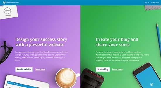 پلتفرم توسعه وب سایت WordPress.com