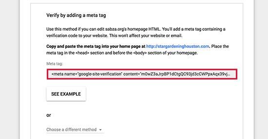 Copy meta tag