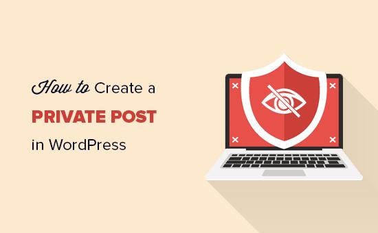Creating private post in WordPress