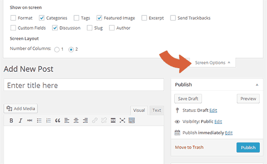 Hide meta boxes from post edit screen from screen options