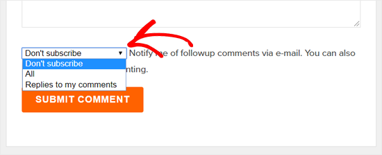 Subscribe to Comments in WPBeginner Blog