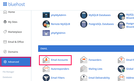 Managing your email accounts