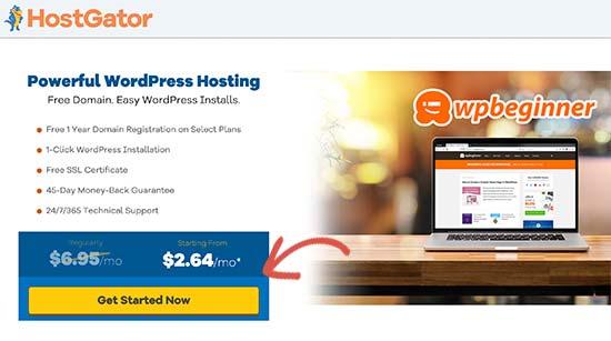 HostGator get started