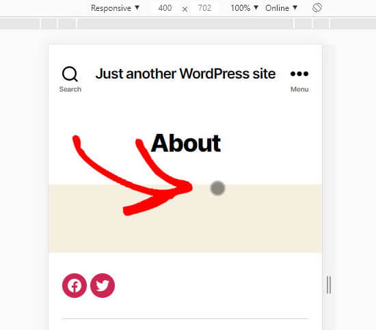 The circular mouse cursor in Chrome's Inspect view