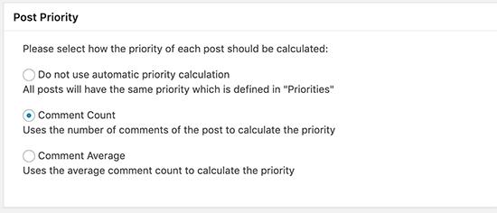 Post priority