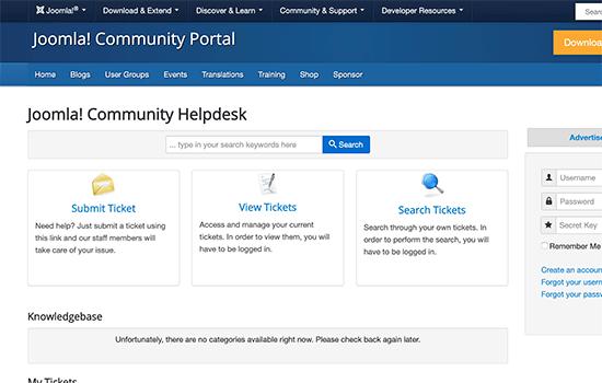 Joomla support forum