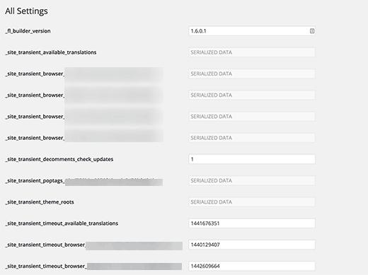 صفحه تمام تنظیمات در وردپرس