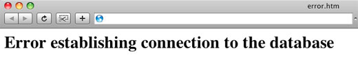 Error Establishing Database Connections