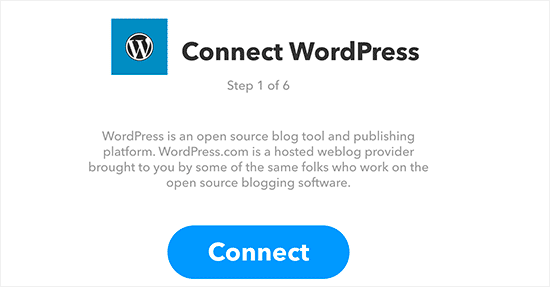 Connect your WordPress site to IFTTT