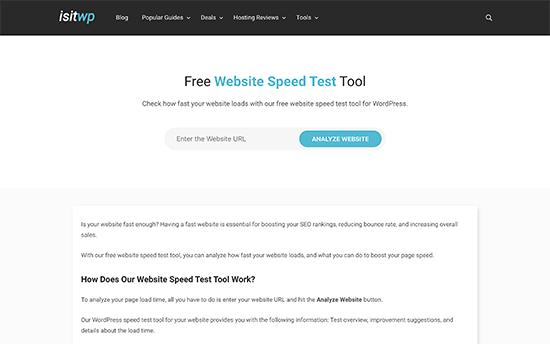 IsItWP Website Speed Test Tool