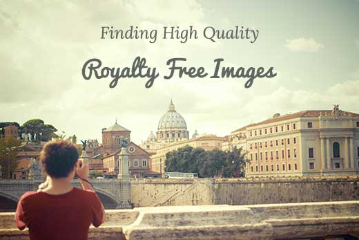 Finding royalty free images for WordPress blog posts
