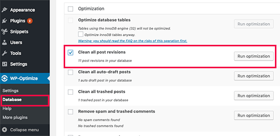 Clean post revisions