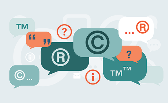 Trademark and copyright WordPress blog's name and logo