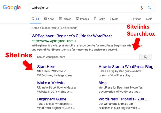What are Google Sitelinks?
