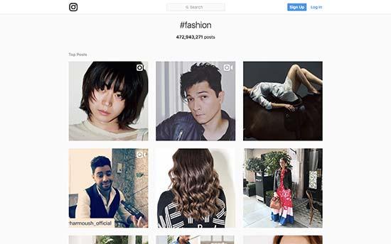 Hashtag fashion on Instagram