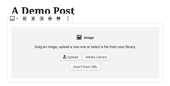 Adding an image block