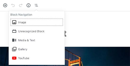 Block navigation