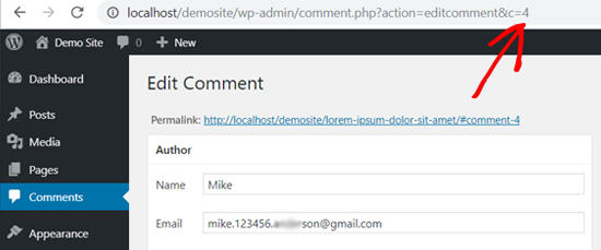 WordPress Comment ID in Web Browser's Address Bar