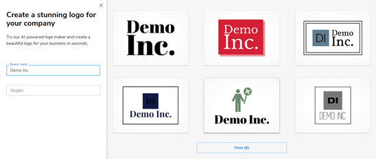 Six logos created by Constant Contact's logo maker