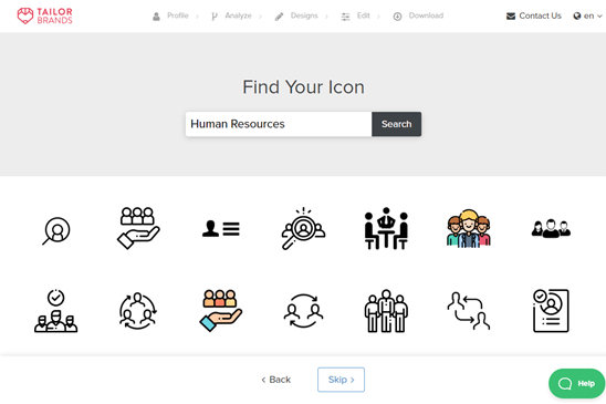 Choosing an icon for your logo