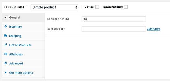 Add product data