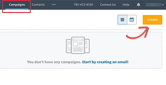 Create welcome email campaign