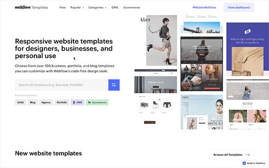 Webflow templates