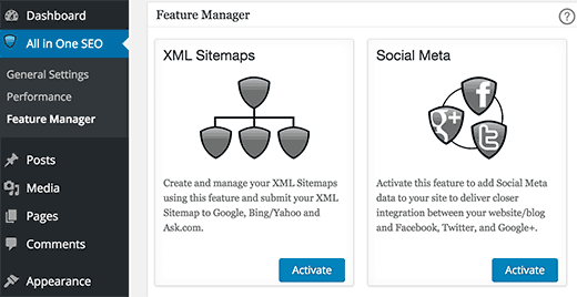 Adding social features to All in One SEO