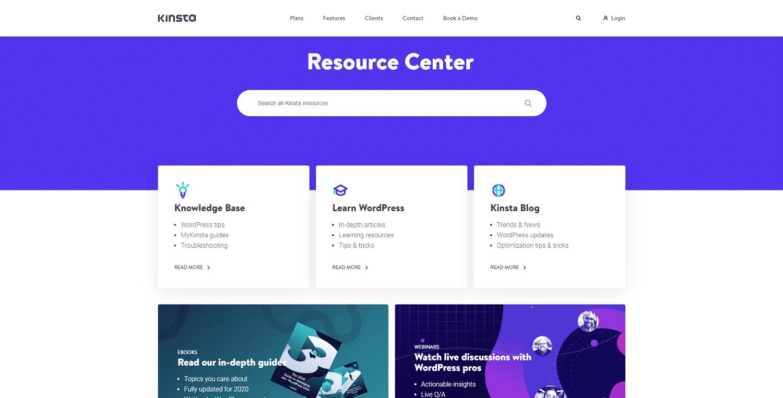 Image file types: kinsta resource center png image