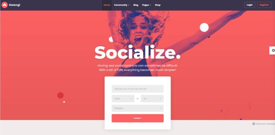 gwangi - WordPress membership theme