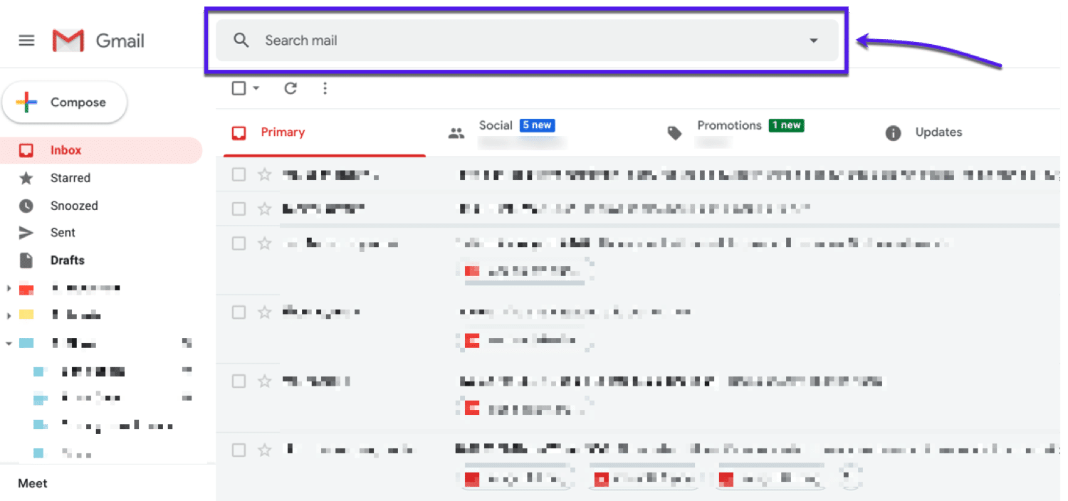 Using search commands in Gmail