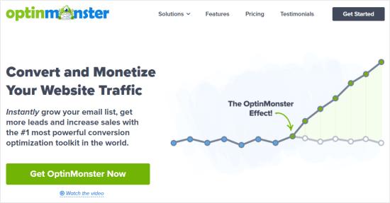 The OptinMonster website