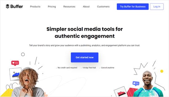 The Buffer website