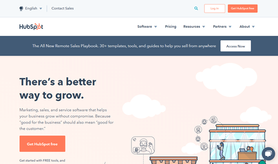 The HubSpot website